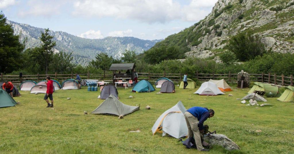 les tentes au refuge de l'Onda