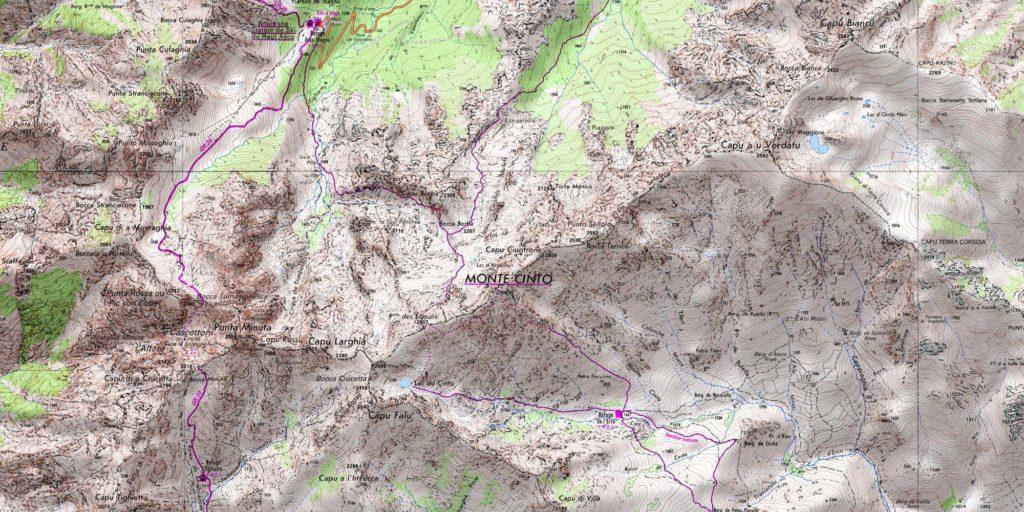 Carte IGN du Monte Cinto