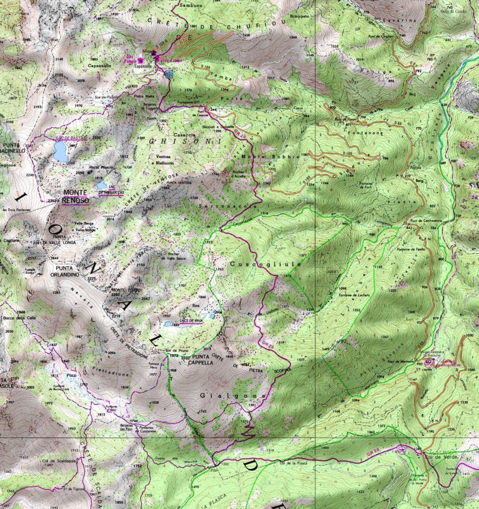 Monte Renoso - Carte