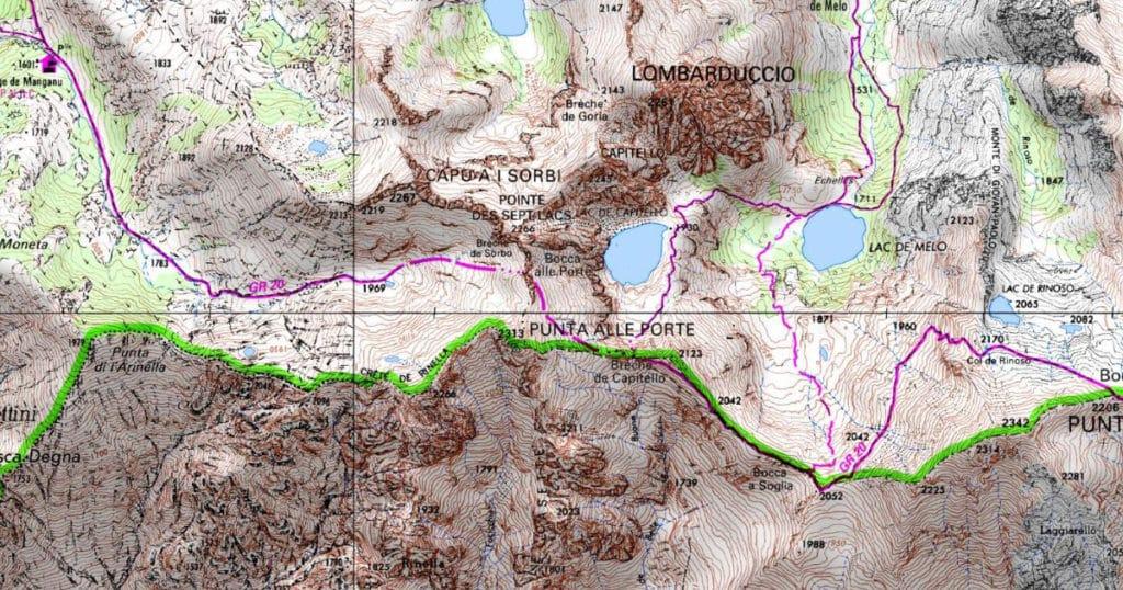 Carte autour de Mélo et Capitello