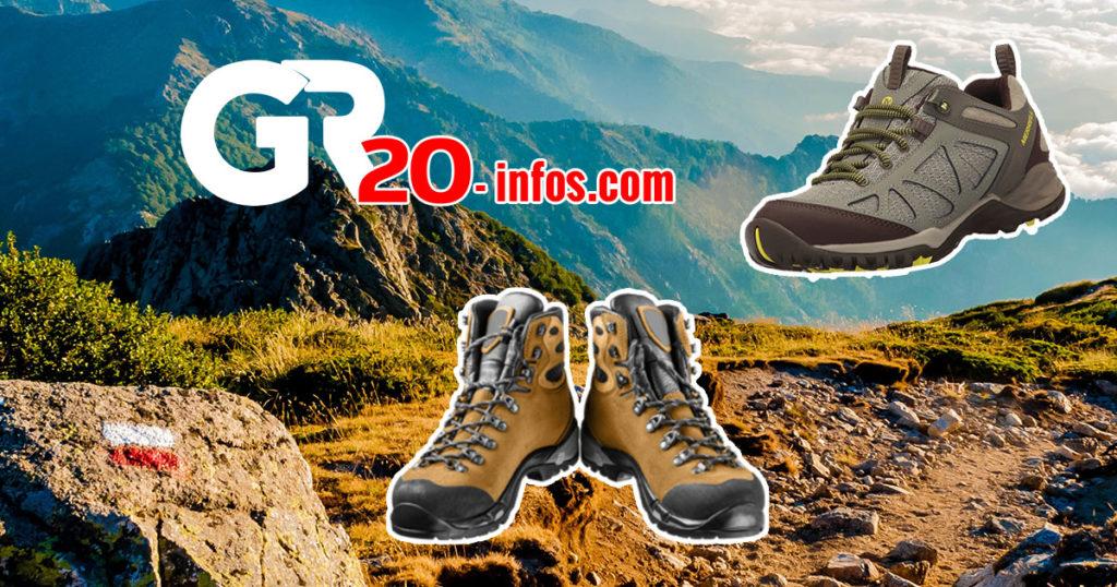 Chaussures spécifiques pour le GR20