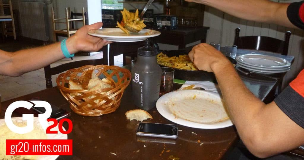 Manger dans les refuges