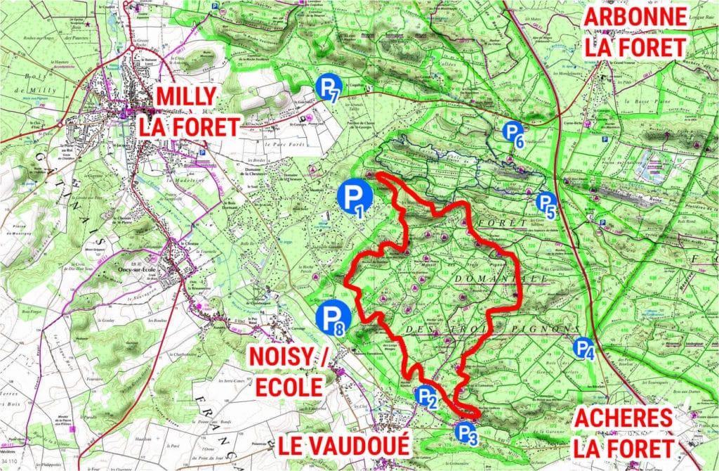 Carte - Fontainebleau