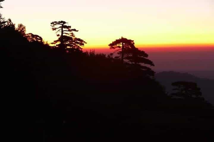Terrain - lever du soleil